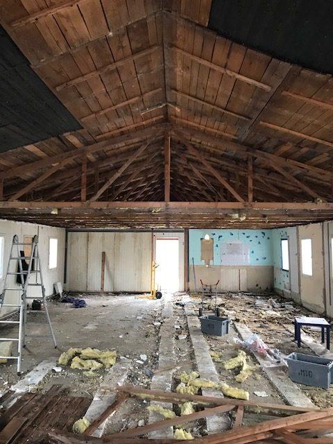 Abbrucharbeiten in einem Gebäude